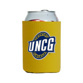 Collapsible Gold Can Holder-UNCG Shield