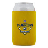 Collapsible Gold Can Holder-Baseball SoCon Champions 2017 - Diamond