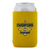 Collapsible Gold Can Holder-2017 SoCon Regular Season Softball Champions - Diamond