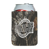 Collapsible Mossy Oak Camo Can Holder-UNCG Shield