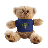Plush Big Paw 8 1/2 inch Brown Bear w/Navy Shirt-Arched UNCG w/Spartan