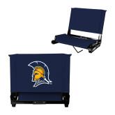 Stadium Chair Navy-Spartan Logo