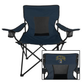 Deluxe Navy Captains Chair-Arched UNCG w/Spartan