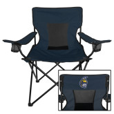 Deluxe Navy Captains Chair-Spartan Head