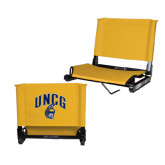 Stadium Chair Gold-Arched UNCG w/Spartan