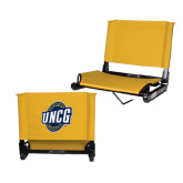 Stadium Chair Gold-UNCG Shield