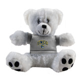 Plush Big Paw 8 1/2 inch White Bear w/Grey Shirt-Arched UNCG w/Spartan