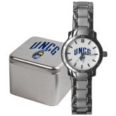 Mens Stainless Steel Fashion Watch-Arched UNCG w/Spartan