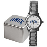Mens Stainless Steel Fashion Watch-Arched UNCG