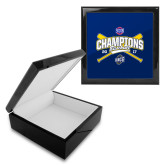 Ebony Black Accessory Box With 6 x 6 Tile-Baseball SoCon Champions 2017 - Crossed Sticks