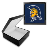 Ebony Black Accessory Box With 6 x 6 Tile-Spartan Logo