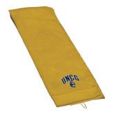 Gold Golf Towel-Arched UNCG w/Spartan