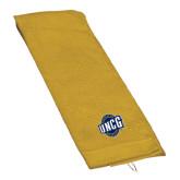 Gold Golf Towel-UNCG Shield