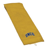 Gold Golf Towel-Arched UNCG