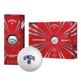 Callaway Chrome Soft Golf Balls 12/pkg-Arched UNCG w/Spartan