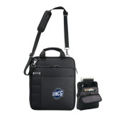 Kenneth Cole Black Vertical Checkpoint Friendly Messenger-UNCG Shield