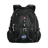 Wenger Swiss Army Mega Black Compu Backpack-UNCG Shield