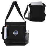 Impact Vertical Grey Computer Messenger Bag-UNCG Shield