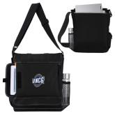Impact Vertical Black Computer Messenger Bag-UNCG Shield