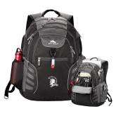 High Sierra Big Wig Black Compu Backpack-Spartan Logo