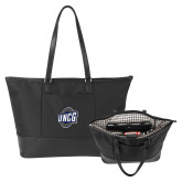 Stella Black Computer Tote-UNCG Shield