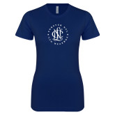 Next Level Ladies SoftStyle Junior Fitted Navy Tee-Forever NCL