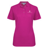 Ladies Easycare Tropical Pink Pique Polo-Primary Mark