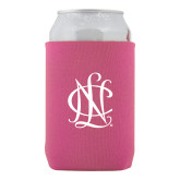 Neoprene Hot Pink Can Holder-Monogram