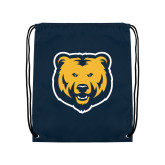 Navy Drawstring Backpack-UNC Bear Logo