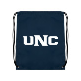 Navy Drawstring Backpack-UNC