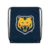 Navy Drawstring Backpack-UNC Bear Logo