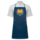 Full Length Navy Apron-UNC Bear Logo