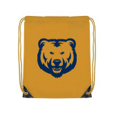 Gold Drawstring Backpack-UNC Bear Logo