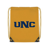 Gold Drawstring Backpack-UNC