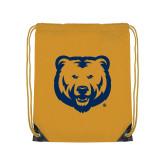Gold Drawstring Backpack-UNC Bear Logo