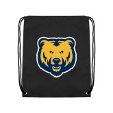 Black Drawstring Backpack-UNC Bear Logo