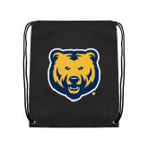 Black Drawstring Backpack-UNC Bear Logo