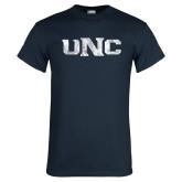 Navy T Shirt-UNC Distressed
