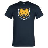 Navy T Shirt-UNC Bear Logo