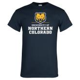 Navy T Shirt-Northern Colorado Stacked Logo