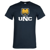Navy T Shirt-UNC Bear Stacked