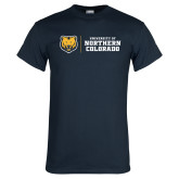 Navy T Shirt-University of Northern Colorado Horizontal
