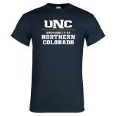 Navy T Shirt-UNC Collegiate Stacked
