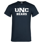 Navy T Shirt-UNC Bears Collegiate