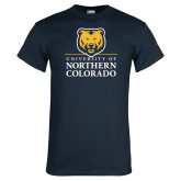 Navy T Shirt-University of Northern Colorado Academic Stacked