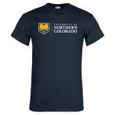 Navy T Shirt-University of Northern Colorado Academic Horizontal