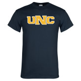 Navy T Shirt-UNC Stroked Logo