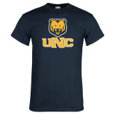 Navy T Shirt-Interlocked UNC and Bear