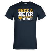 Navy T Shirt-Once a Bear Always a Bear