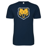 Next Level SoftStyle Navy T Shirt-UNC Bear Logo